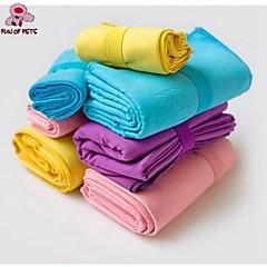 Asciugamano Panni Animali domestici Prodotti per toelettatura Portatile / Cosplay Blu / Rosa / Giallo / Porpora Cotone