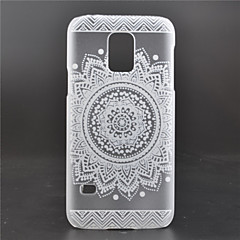 White Flower Pattern PC Material Phone Case for Galaxy S5mini/S6/S6 edge/S6 edge+