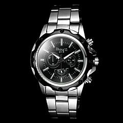 Men's Casual Silver Alloy Quartz Wrist Watch Cool Watch Unique Watch