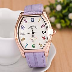 L.WEST Fashion Square And Colorful Digital Belt Quartz Watch
