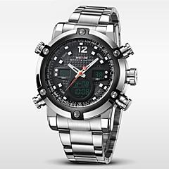Hombre Reloj de Pulsera Cuarzo Japonés LCD / Calendario / Cronógrafo / Resistente al Agua / Dos Husos Horarios / alarma / Reloj Deportivo