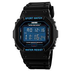 Herren Armbanduhr digital LCD / Kalender / Chronograph / Wasserdicht / Alarm / Stopuhr / leuchtend Caucho Band Schwarz Marke