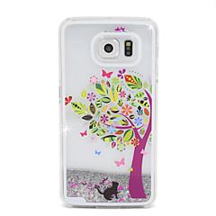 Farbe Baum Flusssand PC-Material Handy-Tasche für Samsung Galaxy S6 / S6 Kante