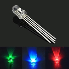 5mm 4-Pin RGB Full Color LED Common Cathode - Transparent (10 PCS)