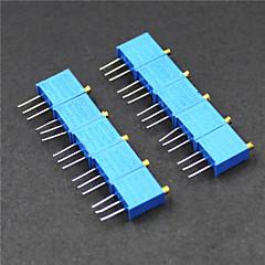 3296 potentiometer 3-pin 10kohm verstelbare weerstanden - blauw (10 stuks)