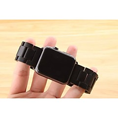 Watch band for apple watch 38mm 42mm perhonen solki ruostumatonta terästä rannekello, jossa on liitin