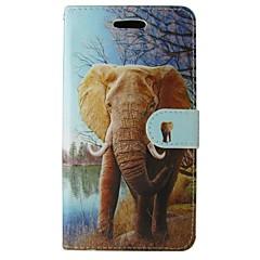Varten Samsung Galaxy Note Korttikotelo / Lomapkko / Tuella / Flip Etui Kokonaan peittävä Etui Elefantti Tekonahka SamsungNote 4 / Note 3