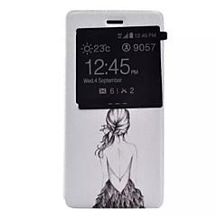 Mert Huawei tok / P9 / P9 Lite / P8 Lite Betekintő ablakkal / Flip Case Teljes védelem Case Szexi lány Kemény Műbőr HuaweiHuawei P9 /