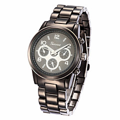 Unisex Alloy Band Analog Quartz Wrist Watch(Assorted Colors)