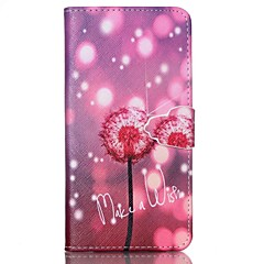 Dandelion Pattern PU Leather Case with Card Slot and Stand for Samsung Galaxy S4 mini/S3mini/S5mini/S3/S4/S5/S6/S6edge+