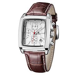 megir® miesten kalenteri ajanoton vedenpitävä aito nahkahihna kvartsi kellot