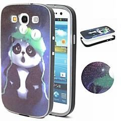 2-i-1 panda mønster TPU bakdekselet + pc støtfanger støtsikkert mykt etui for Samsung Galaxy S3 / S4 / S5 / S6 / S6 kant / s6 kant pluss
