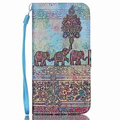 Elefanten-Muster PU-Leder-Telefonkasten für Galaxie S3 / S4 / S5 / S6 / S6 Kante / S6 Kante puls / s3 mini / s4mini / s5mini