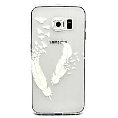 Varten Samsung Galaxy kotelo Läpinäkyvä Etui Takakuori Etui Höyhen TPU Samsung S6 edge plus / S6 edge / S6 / S5 Mini / S5