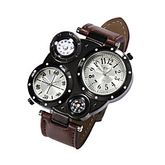 Hombre Reloj de Pulsera Cuarzo Japonés Calendario Piel Banda Marca-
