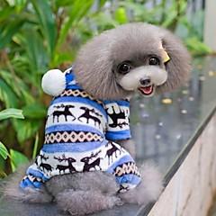 Hunde Jumpsuits Pyjamas Blå Brun Pink Grå Hundetøj Vinter Forår/Vinter Snefnug Sød Afslappet/Hverdag
