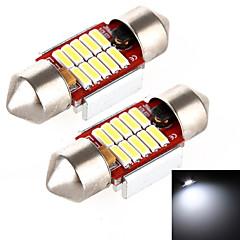 yobo 4w 320lm Girlande 31mm 10 * 4014 LED weißes Licht für Auto-Lenk Glühbirne / Leseleuchte - (2 Stück / DC 12-24V)