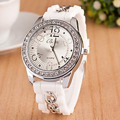 L.WEST Fashion High-end Restoring Ancient Ways Diamonds Silicone Quartz Watch Cool Watches Unique Watches
