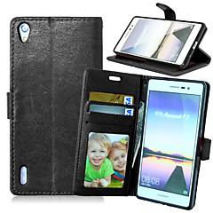 Full Body Wallet / Korttipaikka / telineellä Yhtenäinen väri Tekonahka Kova Tapauksessa kattaa HuaweiHuawei P8 / Huawei P8 Lite / Huawei