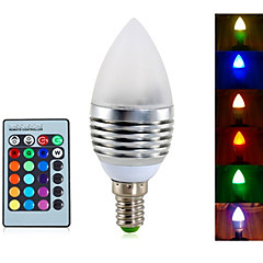 YWXLIGHT® 1pcs E14 5W 3 Integrate LED 400LM RGB Dimmable/Decorative Candle Bulbs AC 85-265V