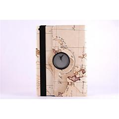 wereldkaart 360⁰ geval ontwerp stand functie van hoge kwaliteit pu lederen tas voor ipad air (assorti kleur)