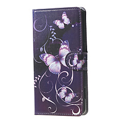 For Alcatel Case Wallet / Card Holder / with Stand / Flip / Pattern Case Full Body Case Butterfly Hard PU Leather Alcatel