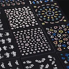 Dedo - Flor / Encantador - Calcomanías de Uñas 3D / Joyas de Uñas - PVC - 30pcs - 65mm*55mm - (cm)