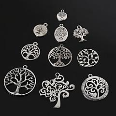 beadia antiguos colgantes del encanto del metal de plata árbol de suerte colgante de joyería de bricolaje