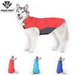 Perros Abrigos / Chaleco Rojo / Azul Ropa para Perro Invierno / Primavera/Otoño Un Color A Prueba de Agua / Paravientos: