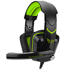 over-ear game gaming headset lysende kablede hovedtelefoner hovedbøjle med mikrofon volumen kontrol gaming støjreducerende