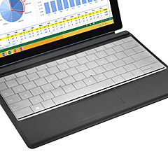 XSKN Ultra Thin Clear Transparent TPU Keyboard Skin Translucent Keyboard Skin for Microsoft Surface 3, US layout