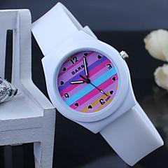 kinderen kleurrijke siliconen band quartz analoog horloge