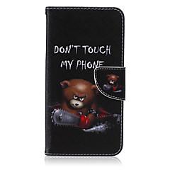 Varten Samsung Galaxy Note Lomapkko / Korttikotelo / Tuella / Flip Etui Kokonaan peittävä Etui Piirros Tekonahka SamsungNote 5 / Note 4 /