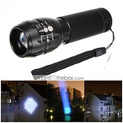 Lampes Torches LED ( Etanche / Rechargeable / Résistant aux impacts / Tête crénelée / Urgence / Zoomable ) LED 3 Mode 500 Lumens Cree Q5