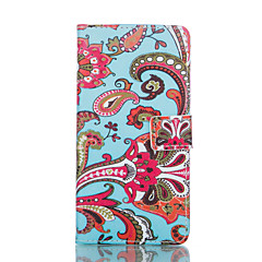 Ethnic Style Red Flower Painted PU Phone Case for Galaxy S6edge plus/S6edge/S6/S5/S5mini