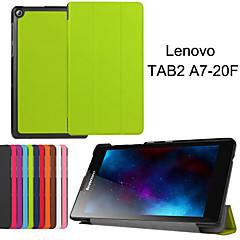 skyddande tablettaskar läder fall fäste hölster för Lenovo tab2 a7-20f