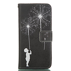 Dandelion Pattern PU Leather Painted Phone Case For GALAXY S3/ S4 / S5 / S6 / S6edge / S3 Mini / S4 Mini / S5 Mini