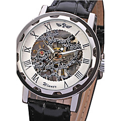 Men's Watch Mechanical Skeleton Hollow Engraving Cool Watch Unique Watch