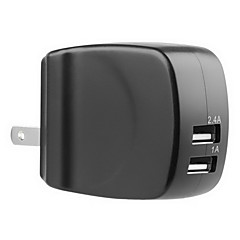 LVSUN® Travel 5V 2.4A+1A AC Dual USB Wall Charger for iPhone6s/6/iPad/Samsung Galaxy S6 and Others(US Plug)
