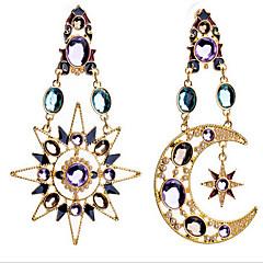 Kolczyki wiszące luksusowa biżuteria Europejski Cyrkonia Pozłacane sztuczna Diament MOON Kolor ekranu Biżuteria Na 2pcs