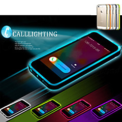 For iPhone 5 etui Blinkende LED-lys Transparent Etui Bagcover Etui Helfarve Blødt TPU for iPhone SE/5s/5