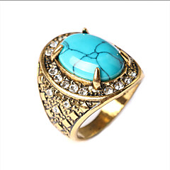 Fashion luxury  style turquoise plating alloy diamond ring Promis rings for couples