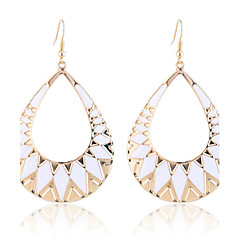 European Style Fashion Waterdrop Shape Enamel Triangle Earrings