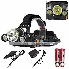 Lights Headlamps Cap Lights LED Light Bulbs LED 6000 Lumens 1 Mode Cree XM-L T6 18650 Waterproof Rechargeable Super Light