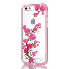 For iPhone 5 etui Blinkende LED-lys Mønster Etui Bagcover Etui Blomst Blødt TPU for iPhone SE/5s/5