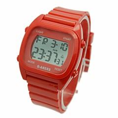 Heren Polshorloge Digitaal LCD Kalender Chronograaf alarm Rubber Band Wit Blauw Rood Groen Wit Rood Groen Blauw