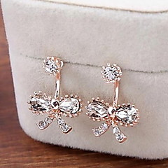Lady Bow Diamond Stud Earrings for Women