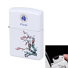 bleu&porcelaine blanche charge d'impulsion de l'arc léger USB ultra mince coupe-vent cigarette électronique prune léger fleur