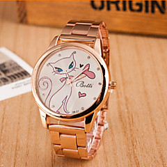 Woman And Men The White Cat Fashion Wrist Watch
