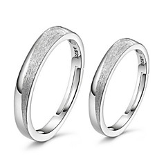 Couples Frosted 925 Silver Rings(A pair of selling)